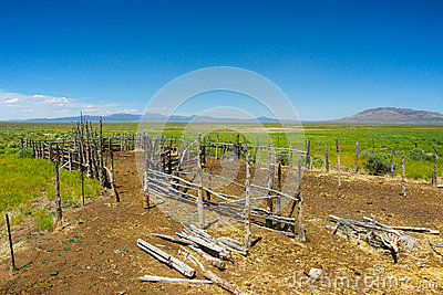 Western Wooden Horse Corral