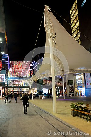 Westfield shopping mall, The street Editorial Stock Image