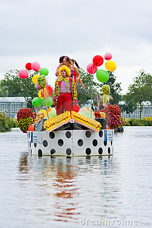 Westland Floating Flower Parade 2009 Editorial Stock Photo