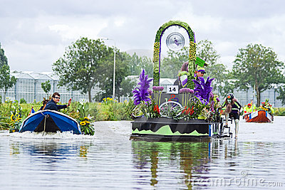 Westland Floating Flower Parade 2009 Editorial Stock Image