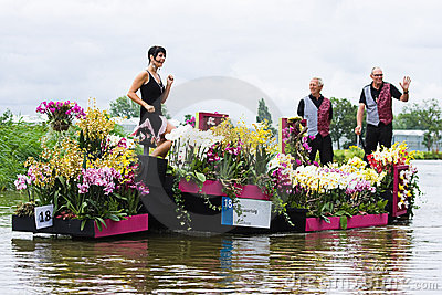 Westland Floating Flower Parade 2009 Editorial Image