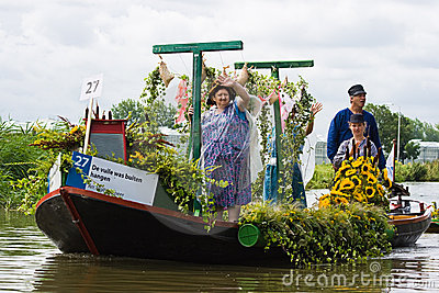 Westland Floating Flower Parade 2009 Editorial Photo