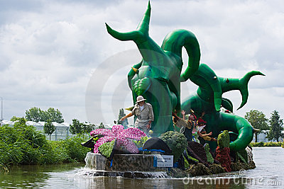 Westland Floating Flower Parade 2009 Editorial Photography