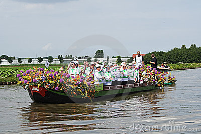 Westland Floating Flower Parade 2010 Editorial Photography