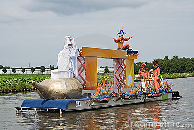Westland Floating Flower Parade 2010 Editorial Stock Image