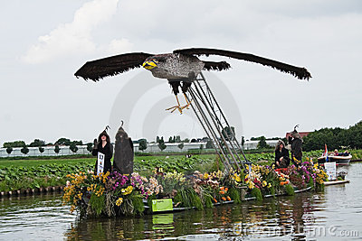 Westland Floating Flower Parade 2010 Editorial Stock Photo