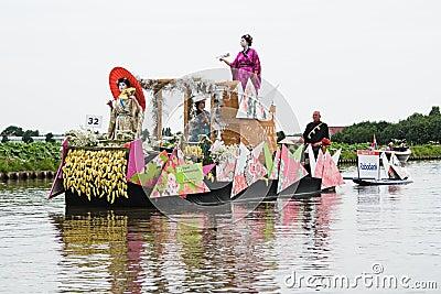 Westland Floating Flower Parade 2010 Editorial Stock Image