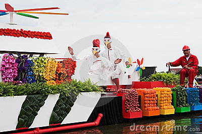 Westland Floating Flower Parade 2010 Editorial Image
