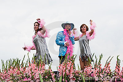 Westland Floating Flower Parade 2010 Editorial Photo