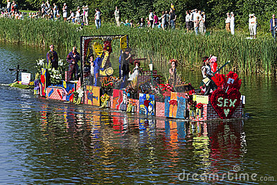 Westland Floating Flower Parade 2010, Netherlands Editorial Photography