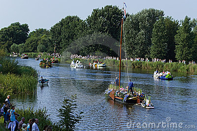 Westland Floating Flower Parade 2010, Netherlands Editorial Stock Photo