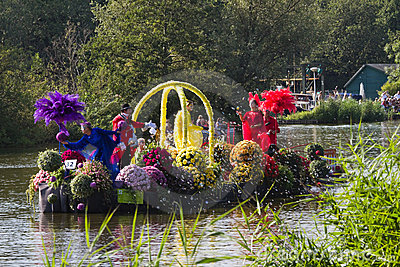 Westland Floating Flower Parade 2011 Editorial Stock Photo