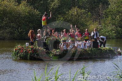 Westland Floating Flower Parade Editorial Stock Image