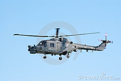 Westland Lynx in flight Editorial Image
