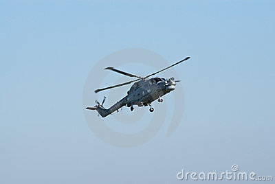 Westland Lynx in flight Editorial Photo
