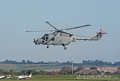 Westland Lynx lands Editorial Stock Image