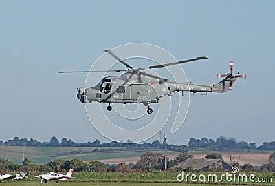 Westland Lynx lands Editorial Stock Image