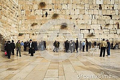 Westliche Wand in Jerusalem Redaktionelles Bild
