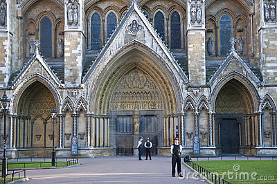 Westminster Abbey being guarded Editorial Photography