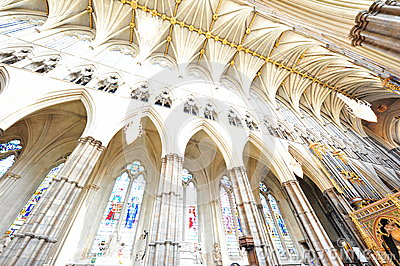 Westminster Abbey gothic interior