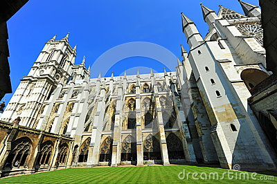 Westminster Abbey interior courtyard