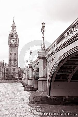 Free Westminster Bridge And Big Ben, London Stock Photography - 27807202
