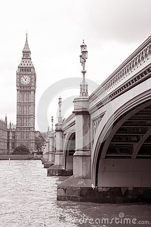 Westminster Bridge and Big Ben, London