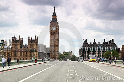 Westminster Cathedral and Big Ben clock tower Editorial Stock Photo