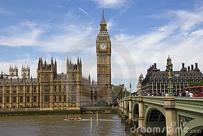 Westminster e grande Ben Immagine Stock Editoriale