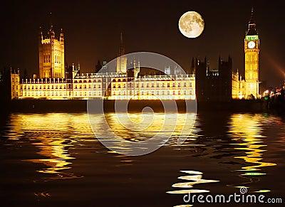 Westminster - huizen van het parlement