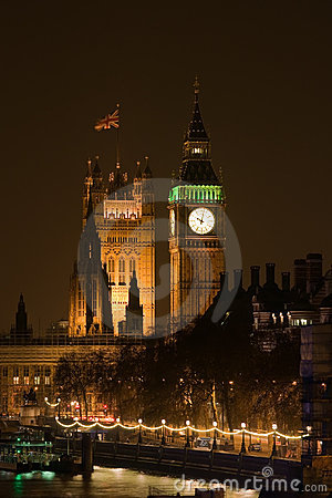Westminster Palace at night Editorial Image