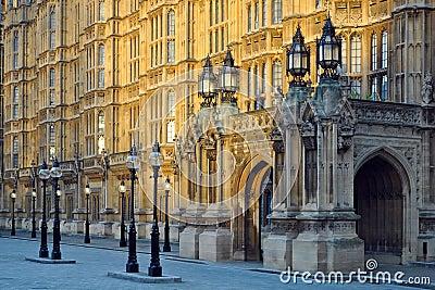 Westminster: perspectief van het Parlement, Londen