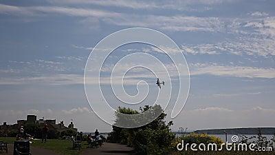 Weston-s-giumenta di Weston Air Festival della fortezza di volo stock footage