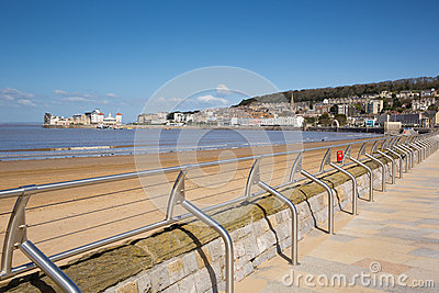 Weston-super-Mare beach and seafront Somerset