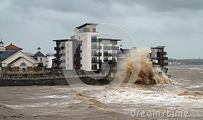 Weston-super-Mare storms and gales Editorial Photography