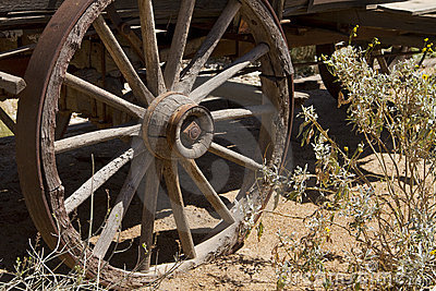 Westward Ho Old Wild West Cowboy Wagon Wheel
