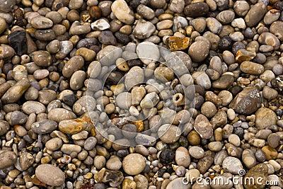 Wet beach pebbles