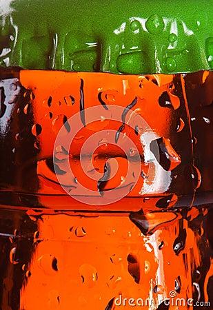 Wet beer bottle