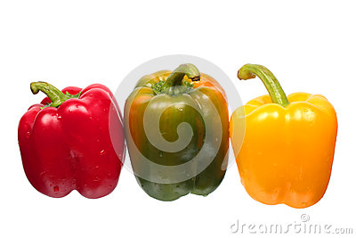 Wet bell peppers