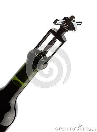 Wet bottle of red wine