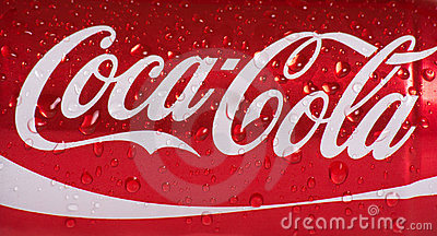 Wet Can of Coca Cola Editorial Photo