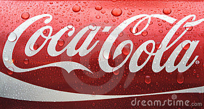 Wet can of Coca Cola Editorial Image