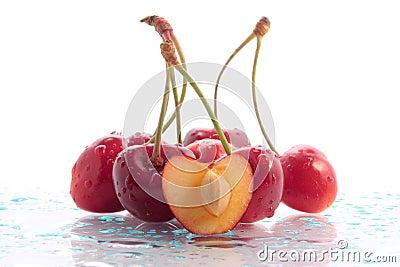 Wet cherries