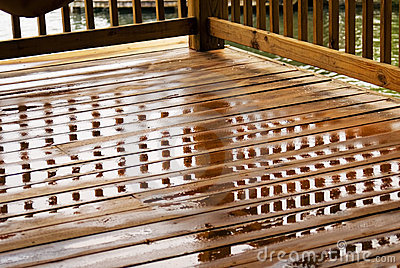 Wet Deck Reflections/Corner View