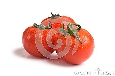 Wet fresh tomato