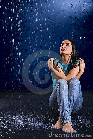 Wet Girl Royalty Free Stock Photos Image 18927968