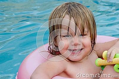 Wet little girl