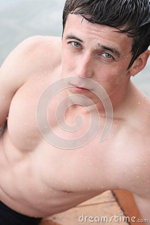Wet man
