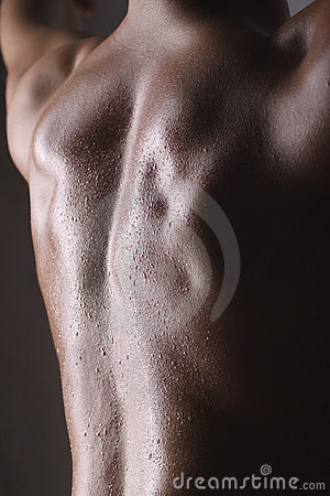 Wet Muscular guy