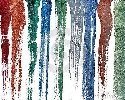 Wet paint smudges
